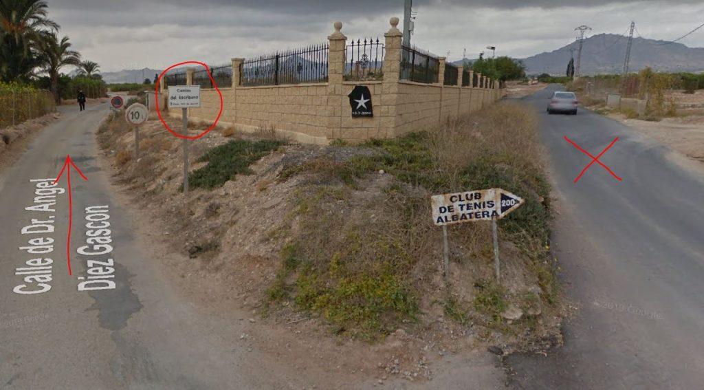 Albatera Mobile Home Park Keep Left Road Junction